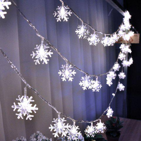 snowflake fairy string lights decorative christmas led lamp