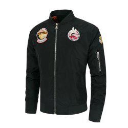 Men's  Casual Stand Collar Air Force One Pilot Jacket -