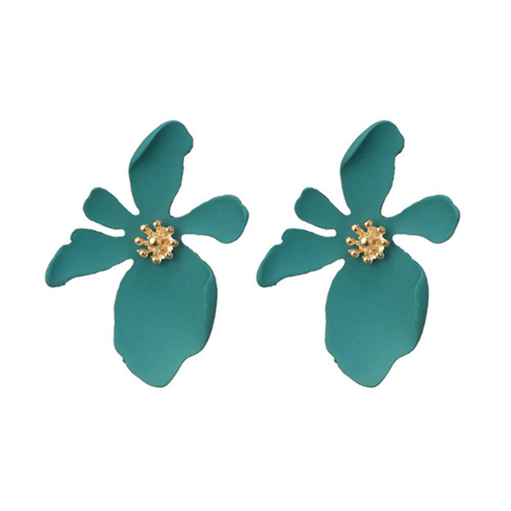 Fashion Women's Studs Fresh Style 3D Floral Design Sweet All Match Earrings
