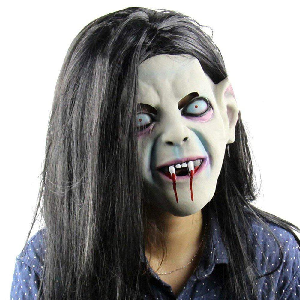 Image of Halloween Pullover Horror Party Cosplay Latex Creepy Scary Hall Mask