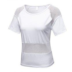 Women's Mesh Stitching Loose Casual Running Quick-Drying Breathable Blouse -