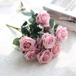 Artificial Flowers Fake Silk Rose Bouquet for Wedding Decoration -