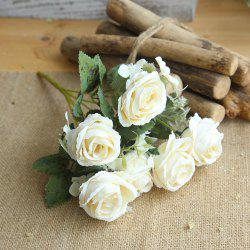 1 Bunch Bridal Bouquet Silk Artificial Rose Flower Party Decorations -
