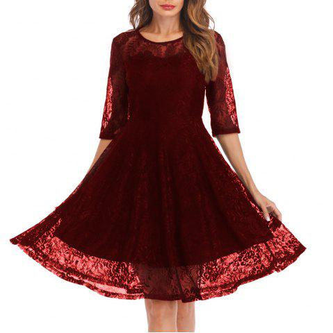 Wine Color Vintage Dress Free Shipping Discount And Cheap Sale