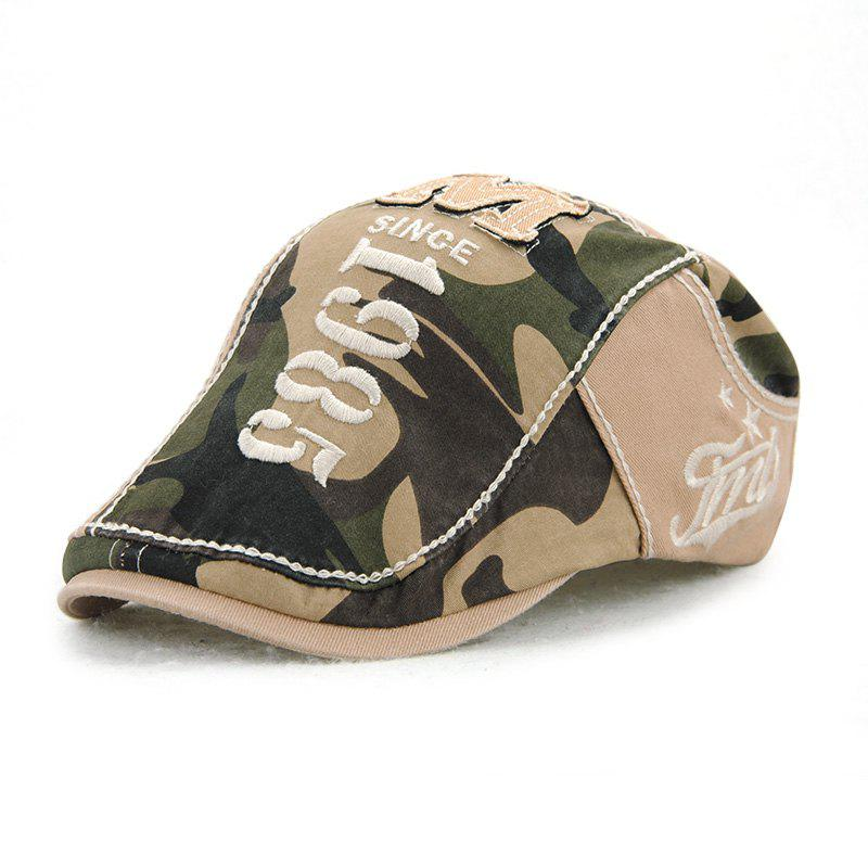 Trendy JAMONT Men's Cotton Stitching Camouflage Hat Outdoor Casual Embroidery Letter Ca