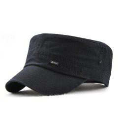 JAMONT Men and Women Embroidered Letters Sunshade Simple Wild Flat Cap -