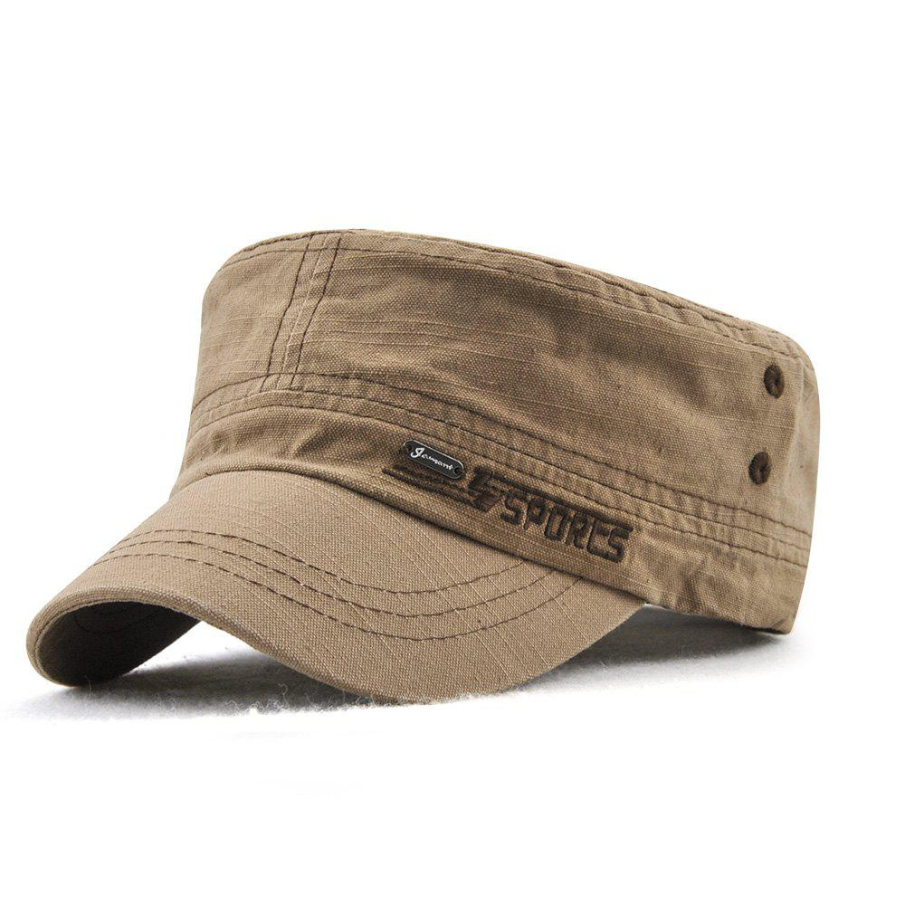 Hot JAMONT Men and Women Embroidered Letters Sunshade Simple Wild Flat Cap