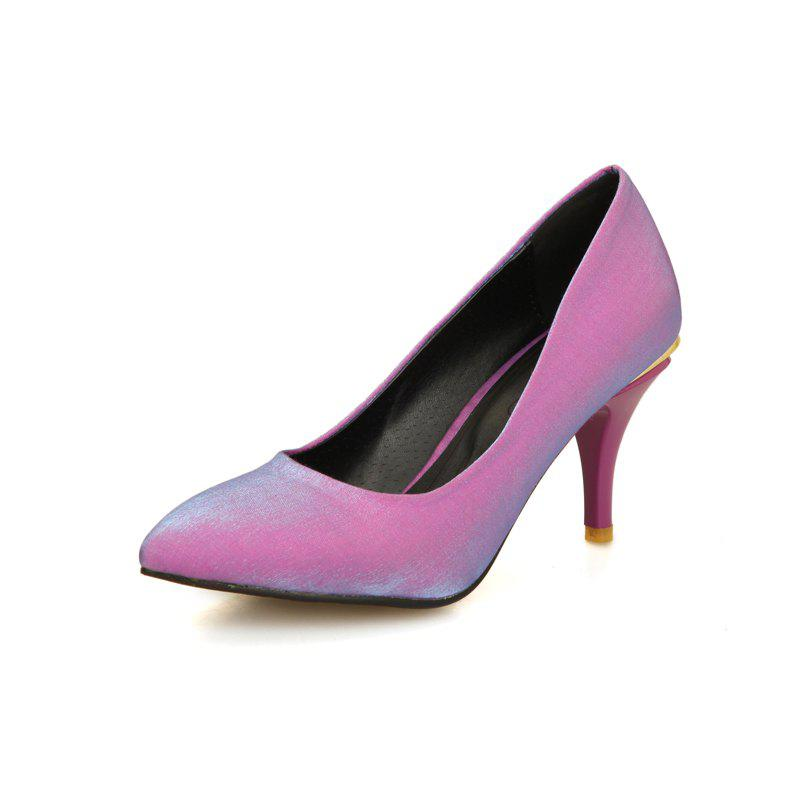 Unique Spring High High Pointed Wedding Banquet Silk Women Shoes