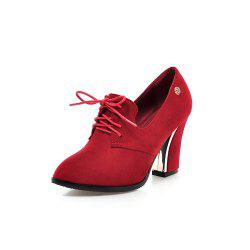 Women Shoes with Rough Heels Pointed Frenties -