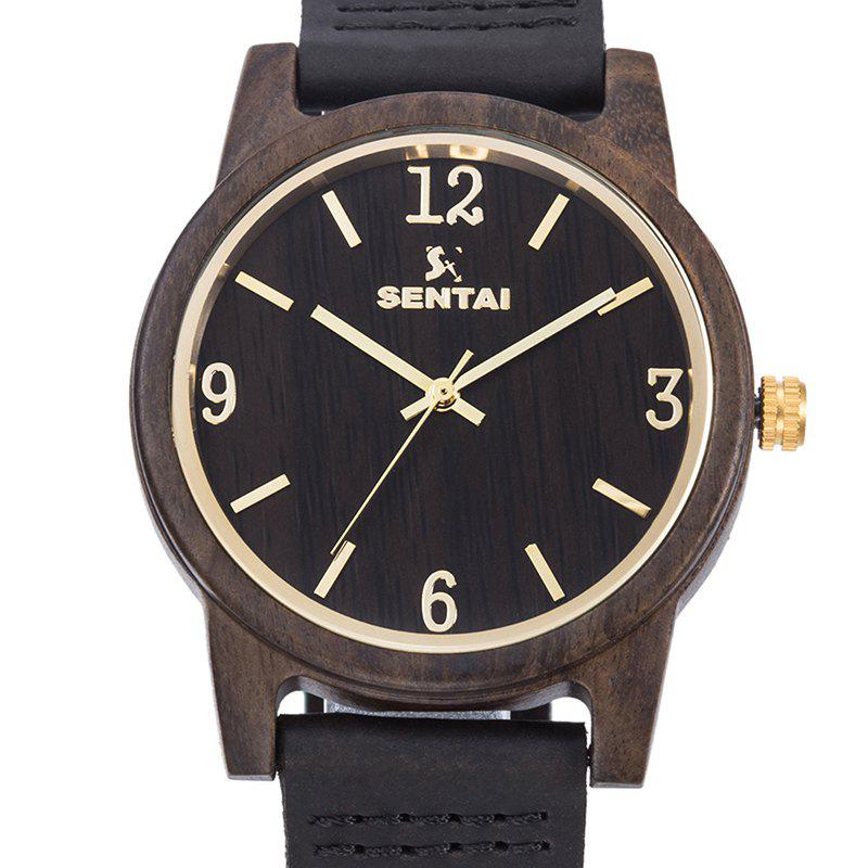 Sale Unisex Natural Wood Leather Handmade Lightweight Quartz Watch
