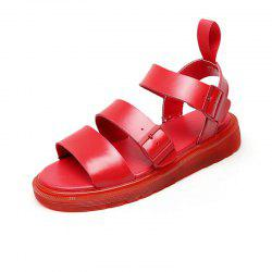 Leather Sandals Anti-Skid Waterproofing Thick Soles Men Women Lovers -