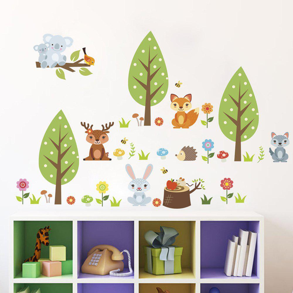 Cute Fox Removable PVC Wall Sticker