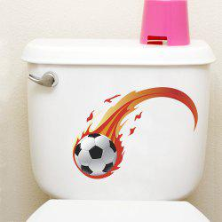 Football PVC Toilet Fridge Wall Sticker -