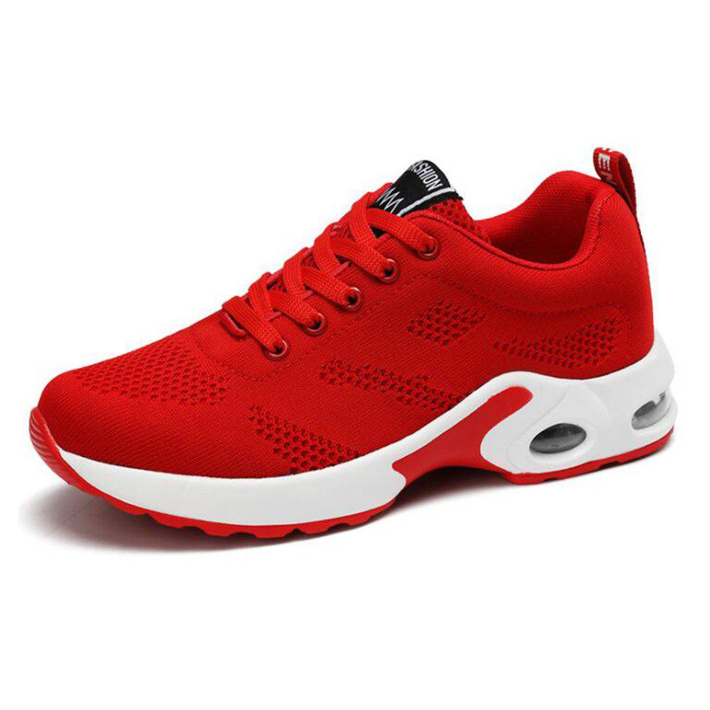 Online Air Cushion Shoes Breathable Shoes Fly Weaving Sneakers Casual Running Shoes Stu
