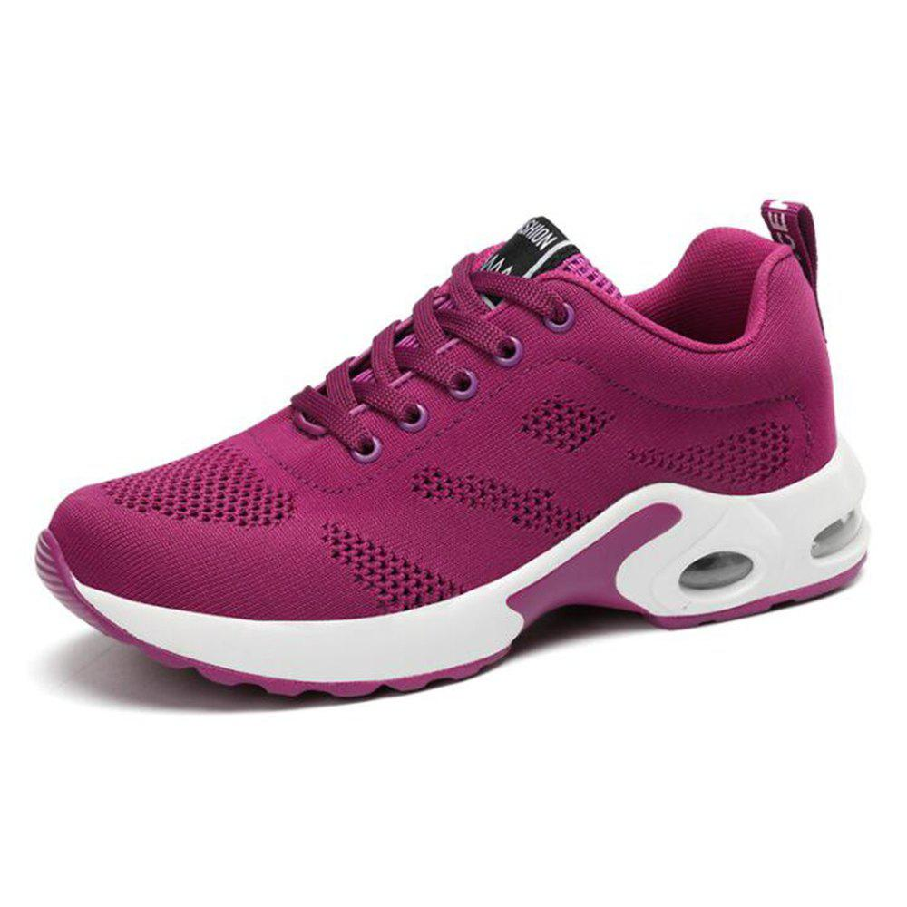 Cheap Air Cushion Shoes Breathable Shoes Fly Weaving Sneakers Casual Running Shoes Stu