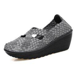 Weaving Shoes Thick Bottom Slope and Cake Shoes Comfortable Shoes Casual Shoe -