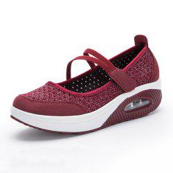 Net Shoes Thick Bottom Cake Shoes Shallow-Mouthed Gasket Shoes -