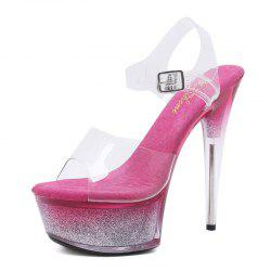 Open Toe Cross Bandage Women's 15cm High Heel Pointed Stiletto Shoes -