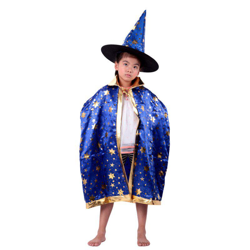 e1f057e087a Sale YEDUO Children Halloween Wizard Witch Cloak Cape Robe Hat Cap Party  Costume