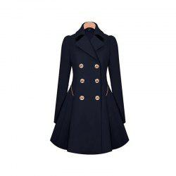 Women's Double Breasted Jacket Trench Coat -