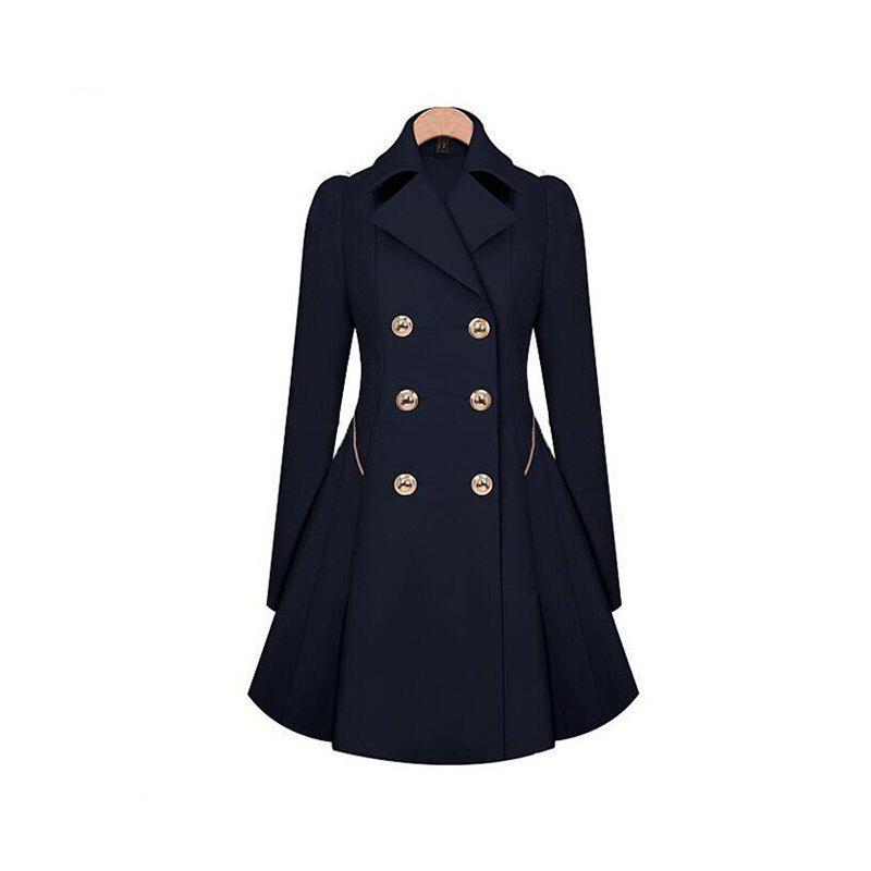 Latest Women's Double Breasted Jacket Trench Coat