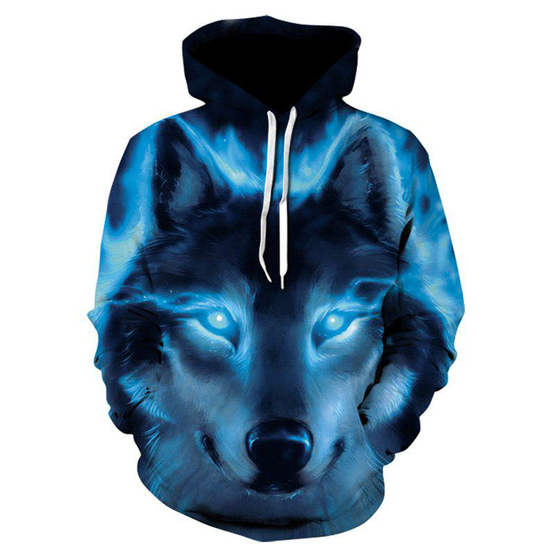 Hot 3D Print Men s Sweater Coat Glamour Wolf Casual Graphic T-shirt Hoodies aabf449e8