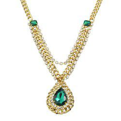 Dripping Gemstone Necklace for Women -