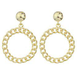 Fashion Round  Hollow Out Pendant Earrings -