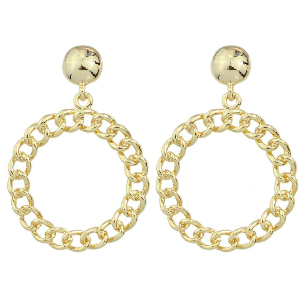 Chic Fashion Round  Hollow Out Pendant Earrings