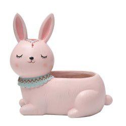 Creative Mini Cartoon Rabbit Resin Handicraft Adorable Flowerpot -
