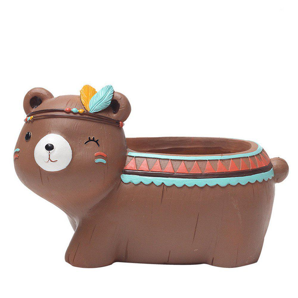 Fashion Creative Mini Cartoon Bear Resin Handicraft Adorable Flowerpot