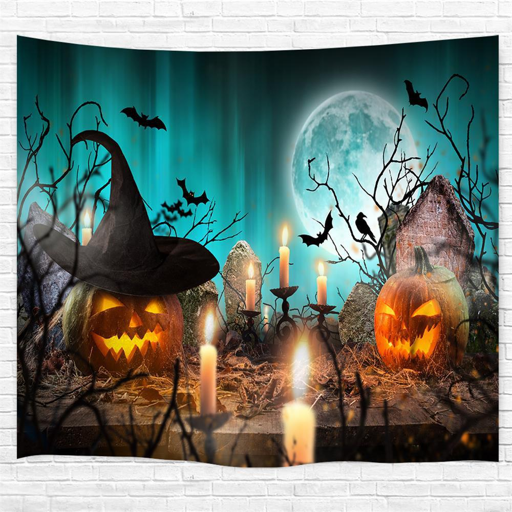 Best Candlestick Pumpkin 3D Printing Home Wall Hanging Tapestry for Decoration
