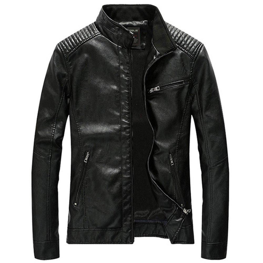 Outfits Winter Men's Leather Jacket Coat Classic Motorcycle Jacket