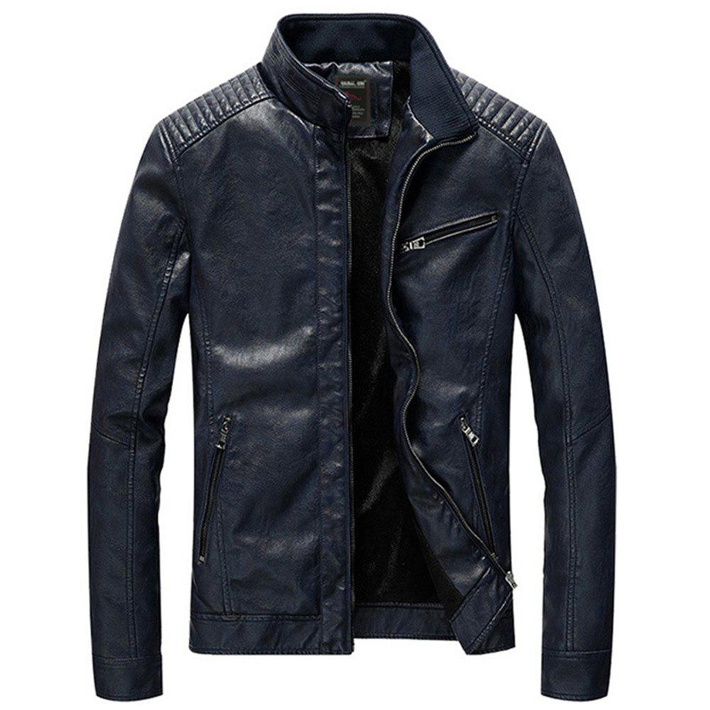 Cheap Winter Men's Leather Jacket Coat Classic Motorcycle Jacket