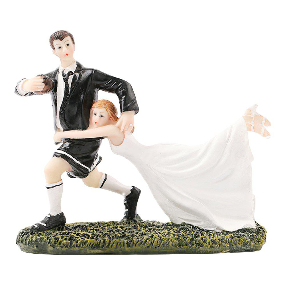 Outfits Rugby Love Cake Topper Ornaments Decoration