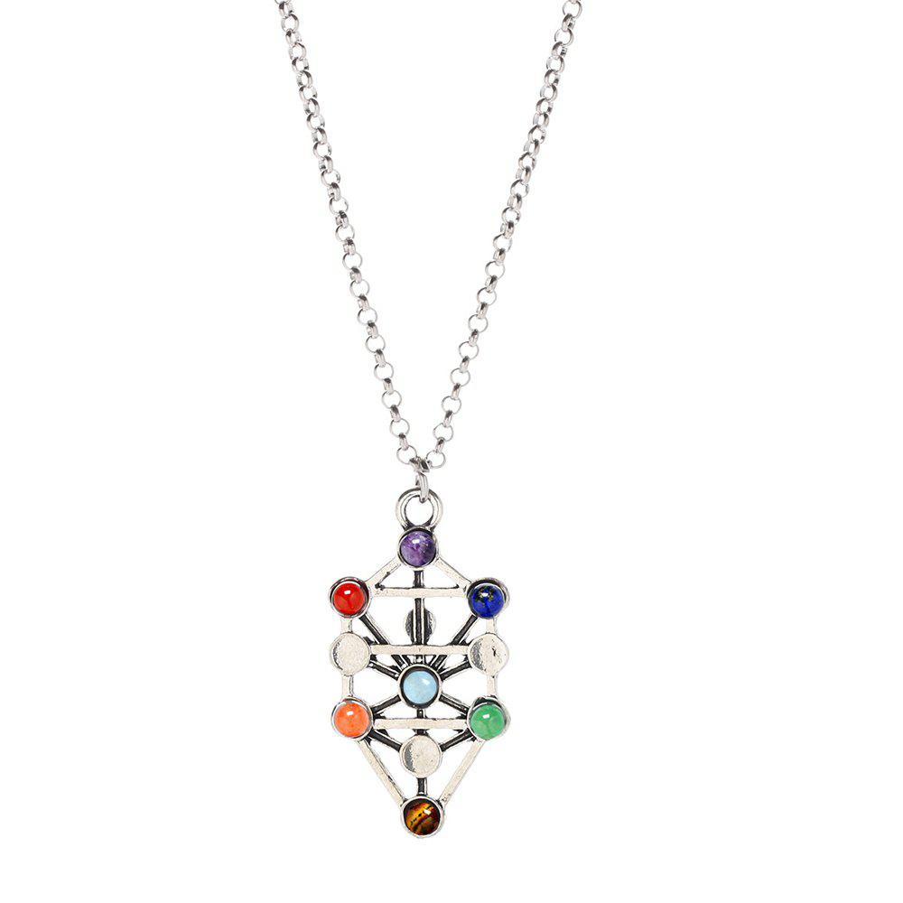 Outfit Chakra Natural Stone Yoga Pendant Necklace