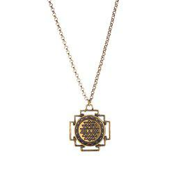 Personality Irregular Geometric Design Pendant Necklace -