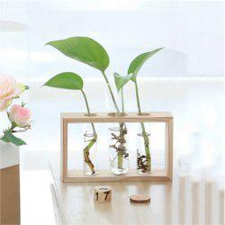 Creative Wooden Glass Living Room Desk Hydroponic -