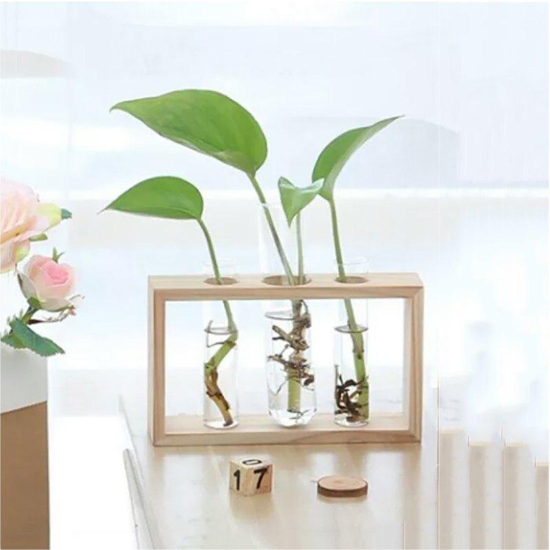 Shop Creative Wooden Glass Living Room Desk Hydroponic