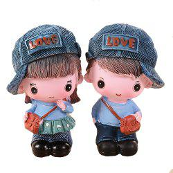2 Pieces Children Gift Personalized Cowboy Couple Resin For Decoration -