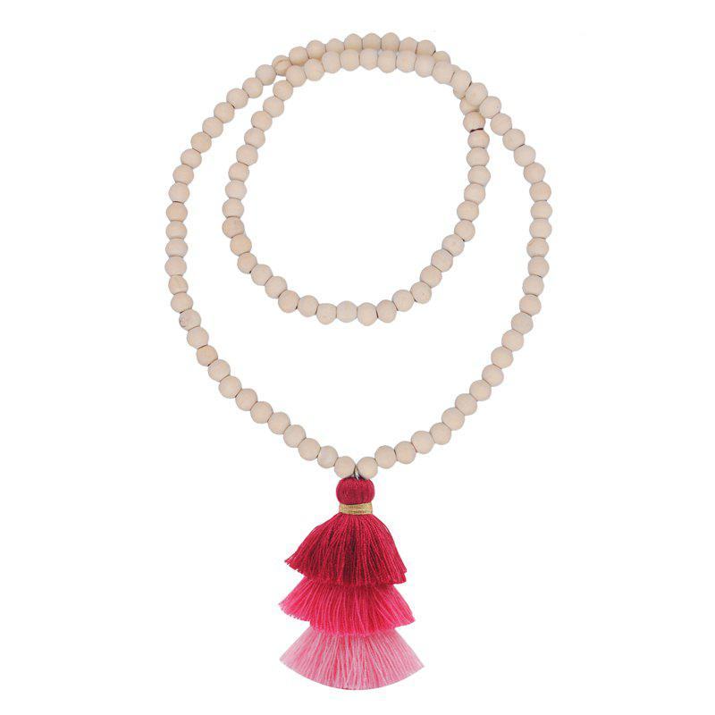 Trendy Colorful Three Layer Tassel Necklace