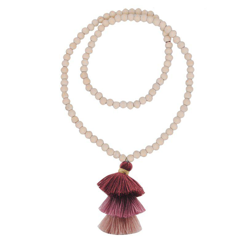 Fancy Colorful Three Layer Tassel Necklace