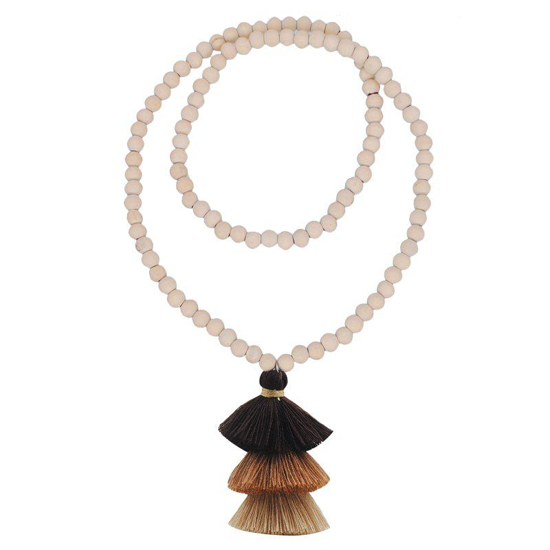 Cheap Colorful Three Layer Tassel Necklace