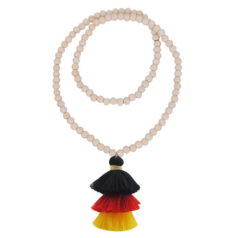 Buy Colorful Three Layer Tassel Necklace