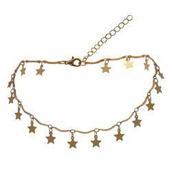 Five Pointed Star Decoration Solid Color Faddish Necklace -