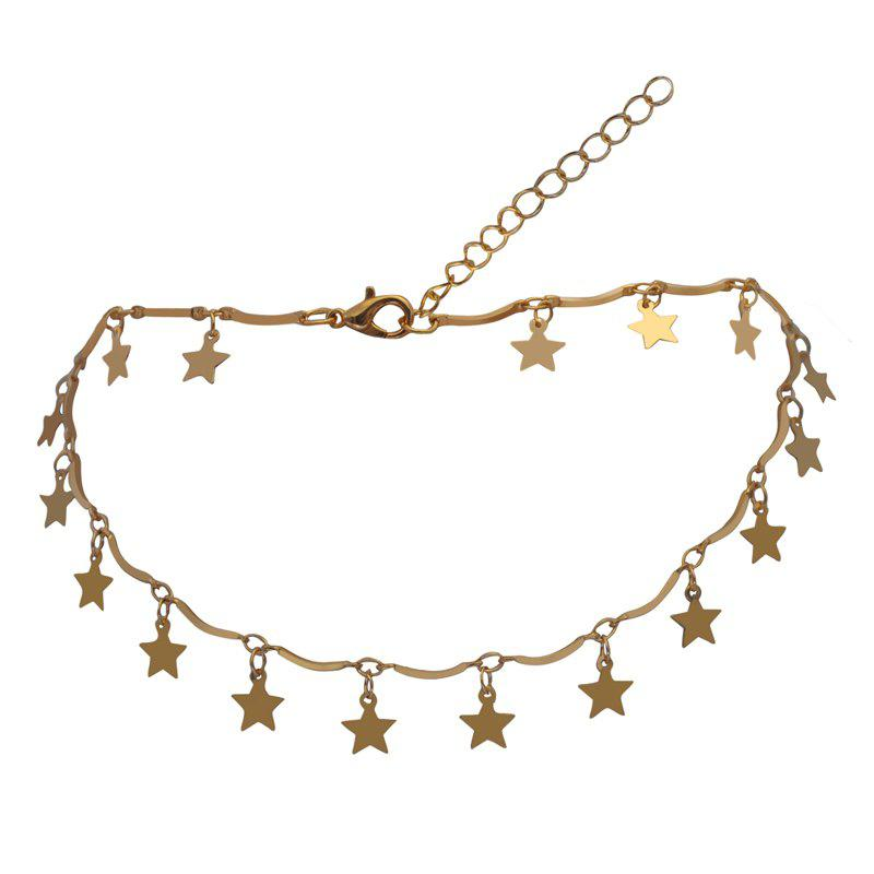 Online Five Pointed Star Decoration Solid Color Faddish Necklace