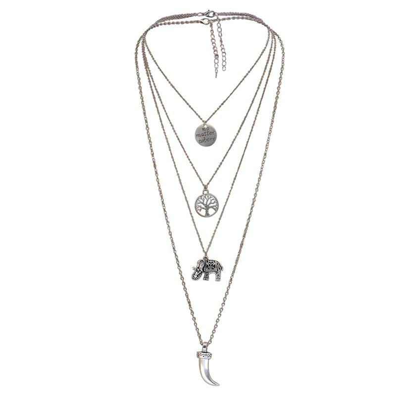 Affordable Multi Layer Design Elegant All Match Necklace Accessory