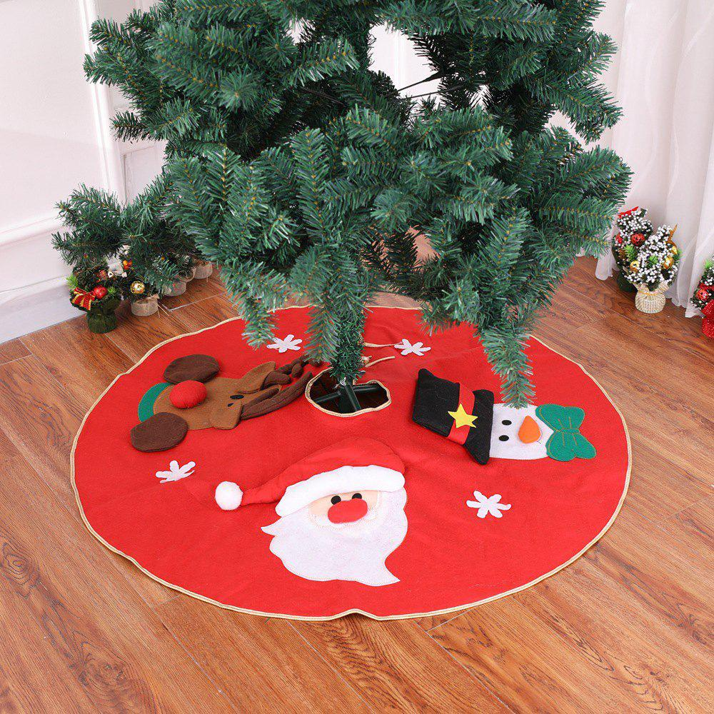 42 Off Red Christmas Tree Skirt Carpet Party Ornaments Rosegal
