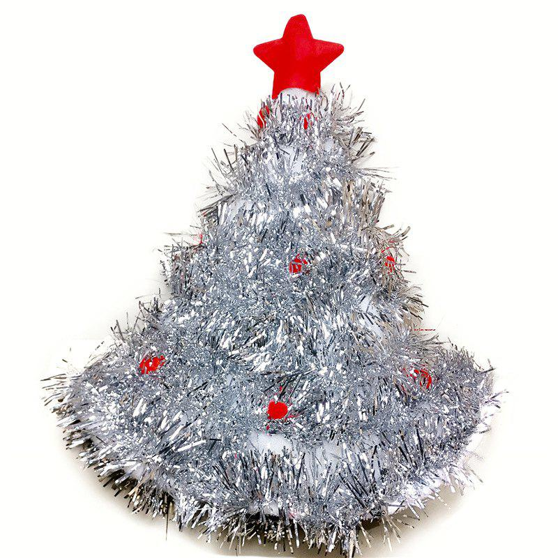 unique christmas hats red silver green tree with star for adult and kids