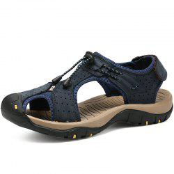 Genuine Leather Summer Beach Male Shoes Casual Sandals -